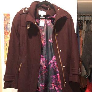 Cole Haan Maroon/Purple Long Coat
